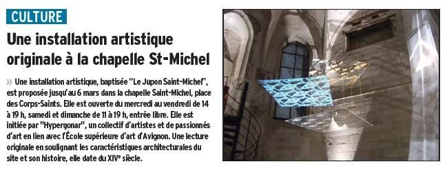 Le Dauphiné, expo Le jupon de St Michel