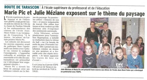 La Provence, expo Paysage n°1
